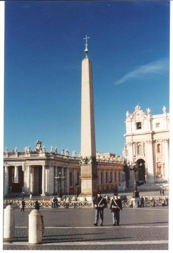 Pope Sixtus V moved this obelisk to its present site in 1586