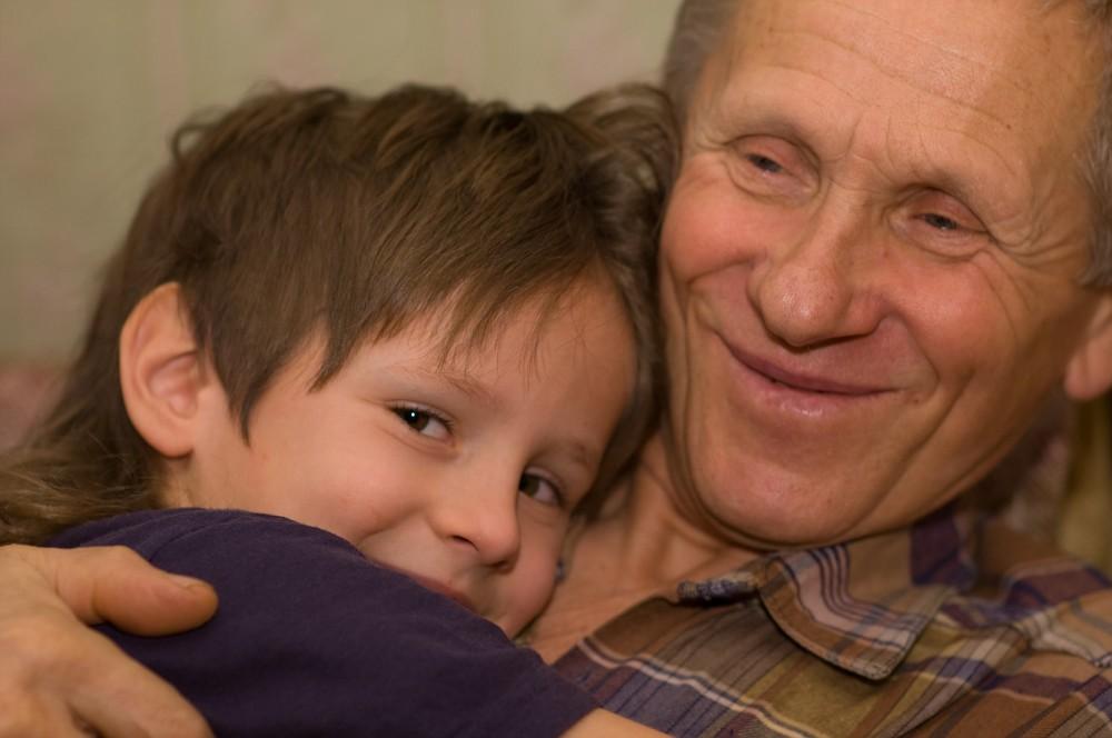 My uncle Igor with grandson Boris