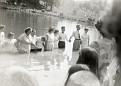 Baptizing at Kermit Sharp's Pond