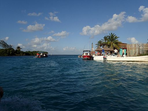 Caye Caulker Spit from the boat