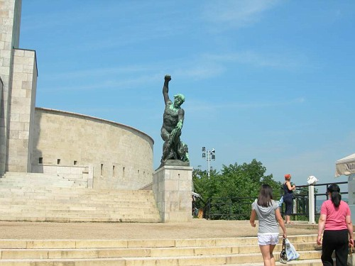 Other side of the statue's base