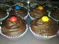 I made these chocolate cupcakes for Kirby when she broke her foot