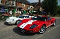 2005 Ford GT with Ford GT40 MK III at English pub