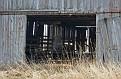 Shadowed Barn Interior