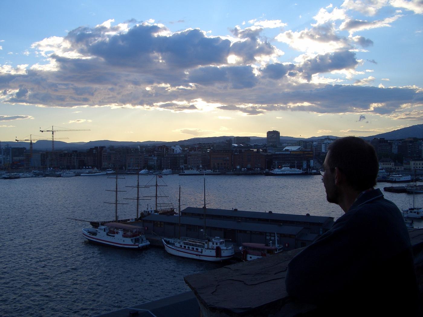 Andreas im Hafen Oslo