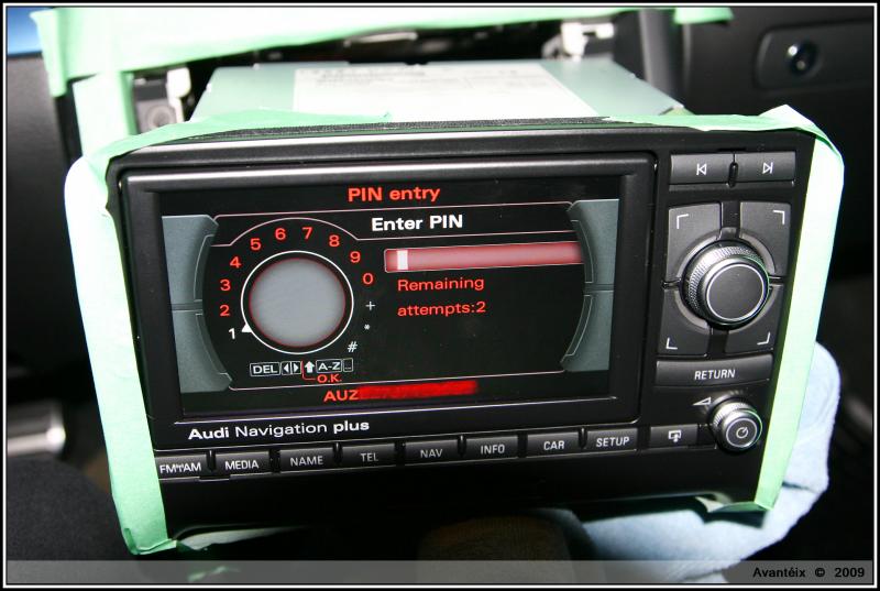 factory rns e wont work because i dont have the pin hellllppppp rh audizine com Audi Navigation Audi A3