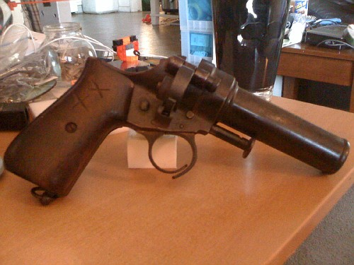 Legality of conversion? flare pistol to cobray/leinad