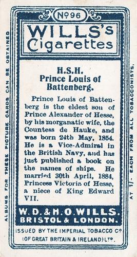 1908 Wills European Royalty #096 (2)