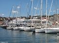 Island Star & Braemar through the yachts