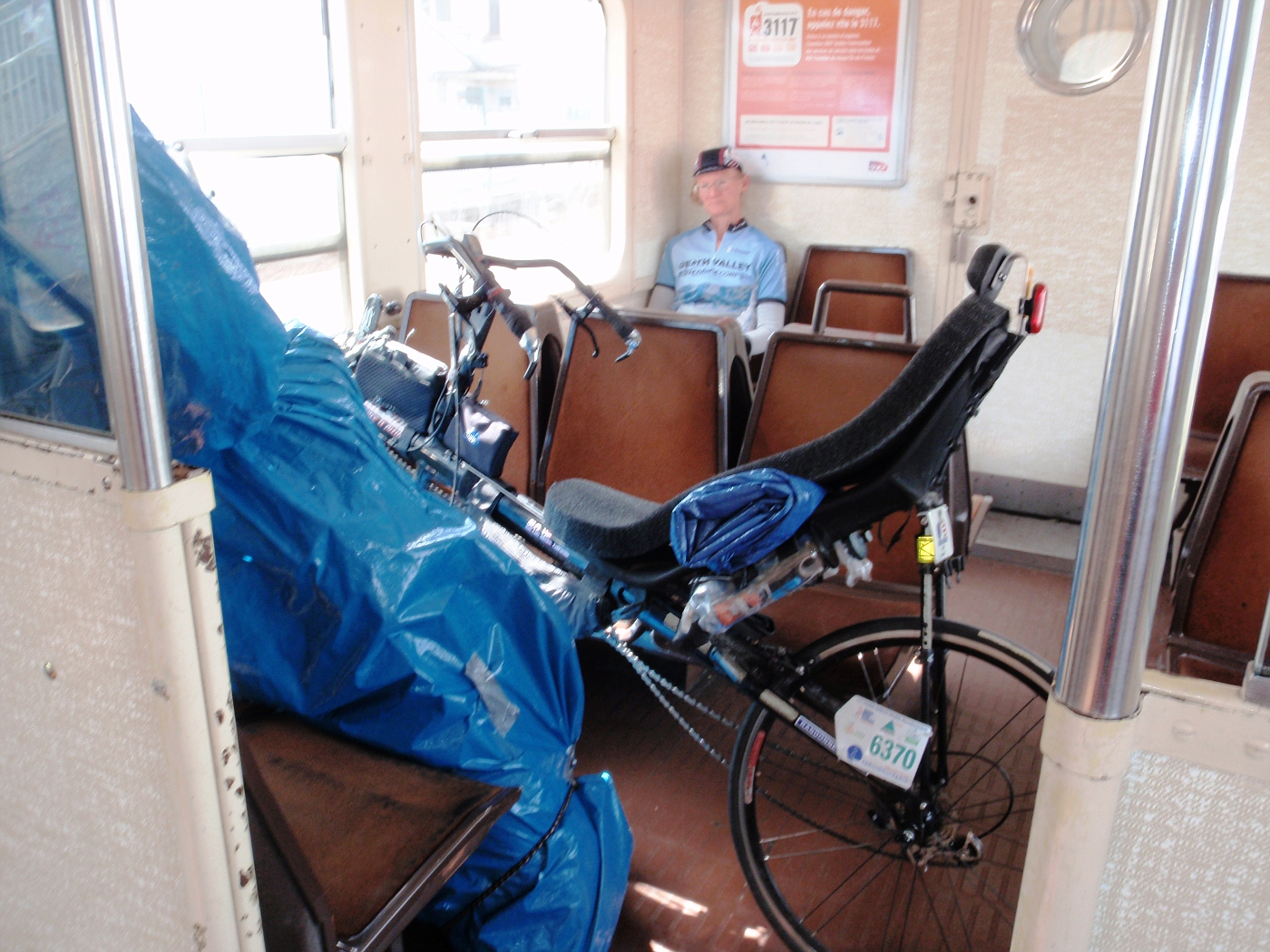 In the commuter train