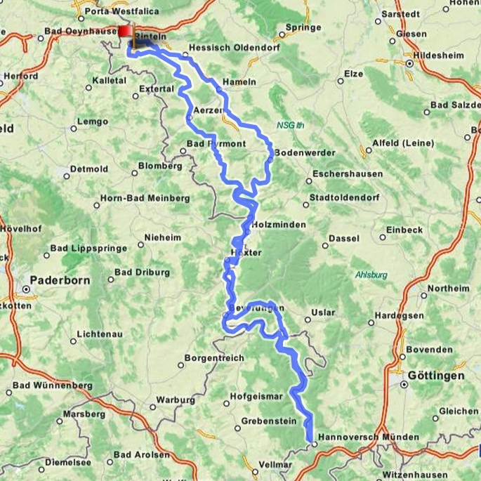 300 km Route