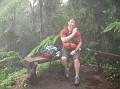 Troy on a wet hike!
