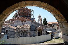 Apollonia widok na odbudowywany klasztor