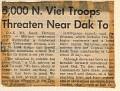 5,000 North Vietnamese in hills around DAK TO