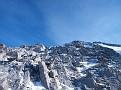 Start ascending the summit block