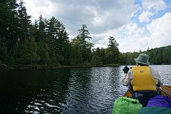 Approaching the portage to East Bearskin Lake