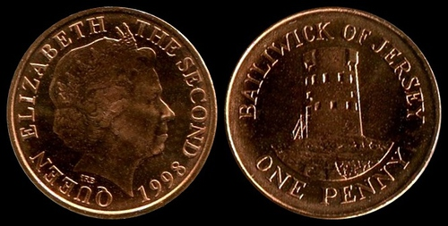 Bailiwick of Jersey 1998 penny