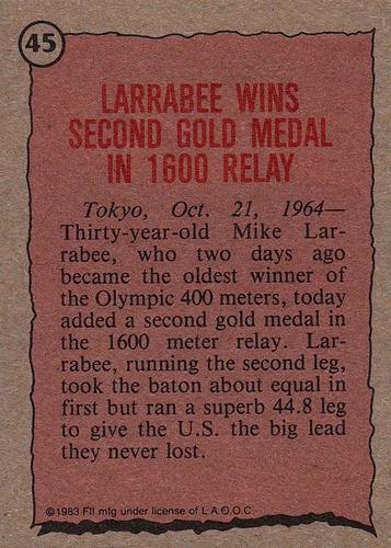 1983 Topps Greatest Olympians #45 (2)