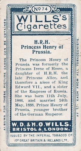 1908 Wills European Royalty #074 (2)