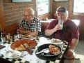 Middag på ett Pizzahut i Columbus.