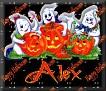 3 Ghosts & pumpkinAlex