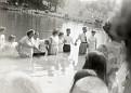 Baptizing at Kermit Sharp's Pond