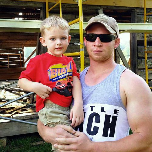 2015-09-01 - Silas and Uncle Dylan