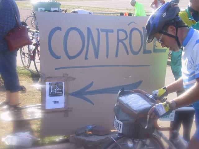 Hinweisschild Kontrolle PBP 2007