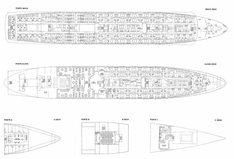 MSC Monterey Deck Plans Part II