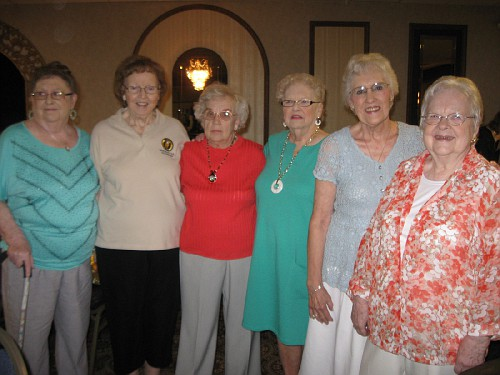 Dolores Green, Shirley Hogan, Donna Tiedemann, Joan Austin, Aliene Ross, Dot Hodge