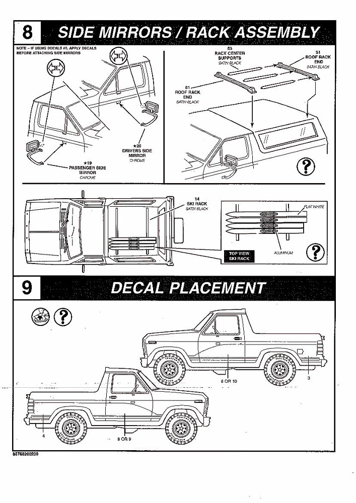 photo  revell 1980 bronco instructions 8