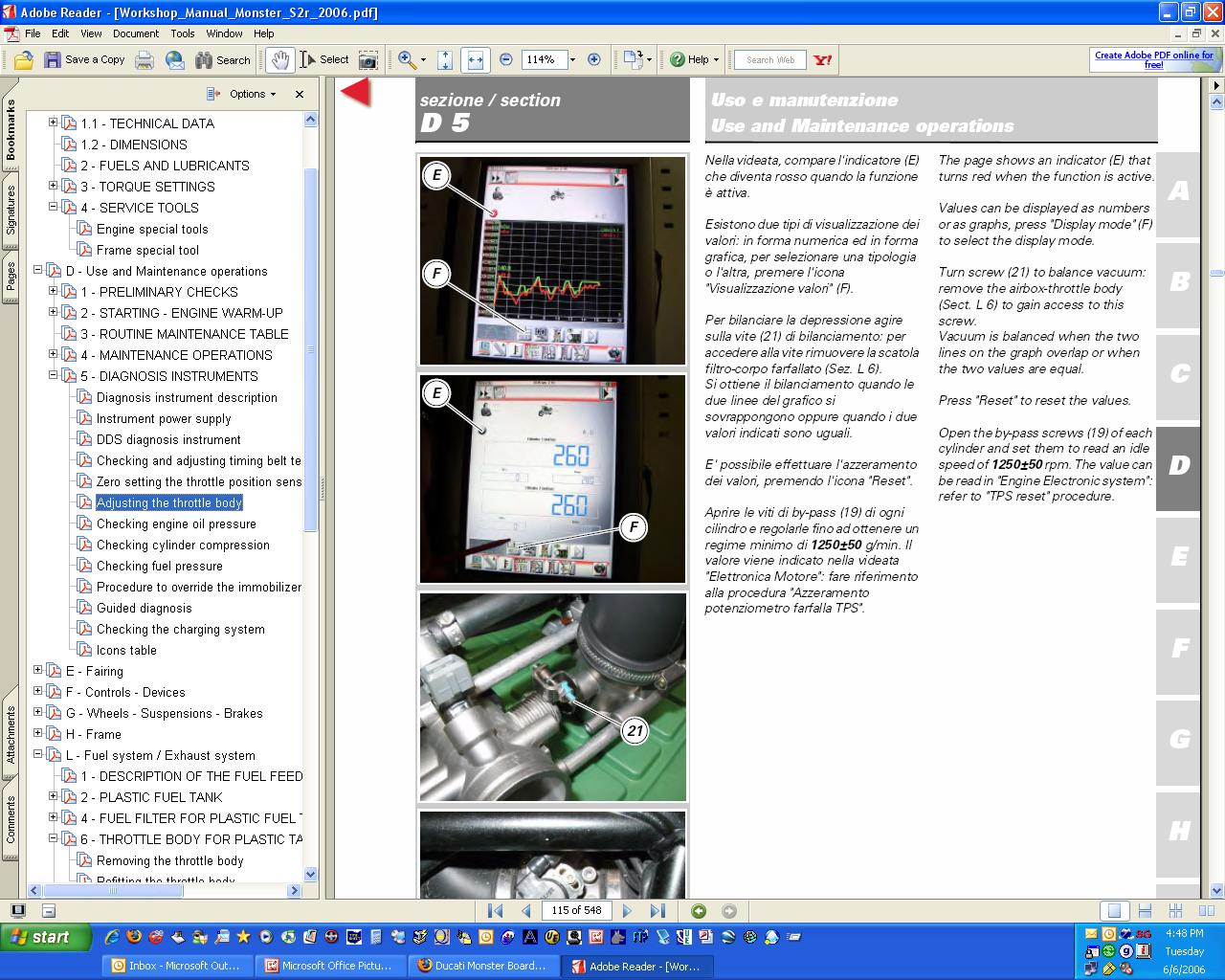 DUCATI MATHESIS DIAGNOSTIC TOOL & TIMING BELT TENSION KIT For Sale