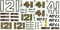 1965 JNJ Wood Brothers Fords 41 Curtis Turner 121 Dan Gurney  476