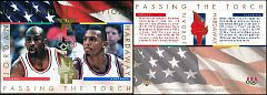 1996 Upper Deck Olympicards Passing the Torch Michael Jordan-Anfernee Hardaway