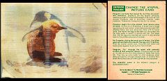 1978 Visual Panographics Change the Animal Picture Card #6