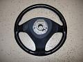 rear of steering wheel