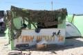 Netset Hazani settlement. Settlers are returning their arms.