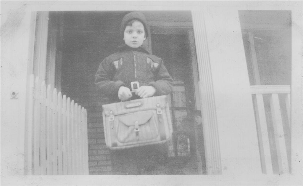 Herman Erwin Schempp  Hermans first day of school, picture taken on the frontporch on Fern St Philadelphia