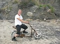 Me on a rusted old bike that we found abandoned on the beach!!!