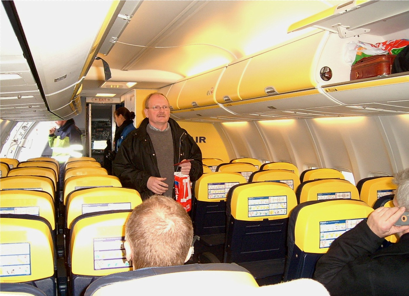 PIC 0210 Inside Ryanair plane