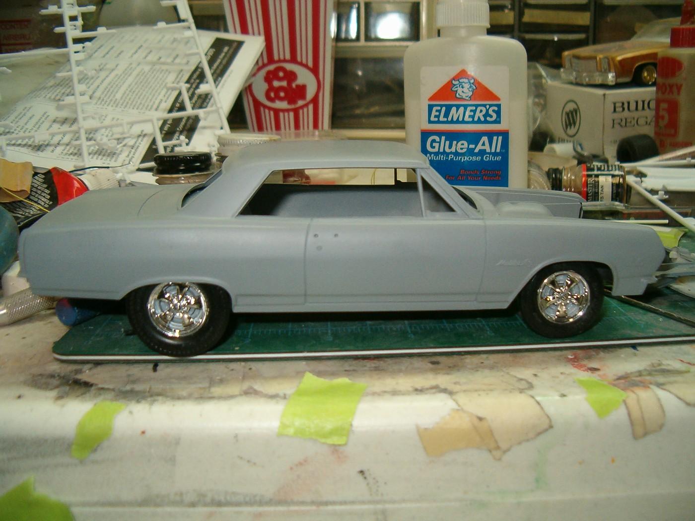 Du progrès au projet...Chevelle SS396 1965, Super Stock, avec la remorque et le pick-up. 002-vi