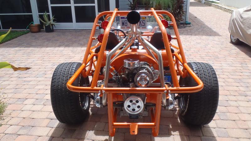 Photo: orange frame 1   V W  Dune Buggy-Sand Rail album