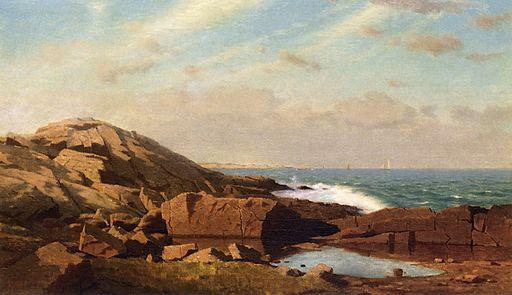 Sail Boats off a Rocky Coast [1864]