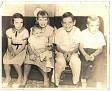 Year 1957 - June Burress Sharpe, Marilyn Joan Burress Cook, Janet, Argil & Jimmy