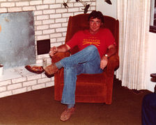 Russell Ipock, about 1979, at his house in Helenwood.