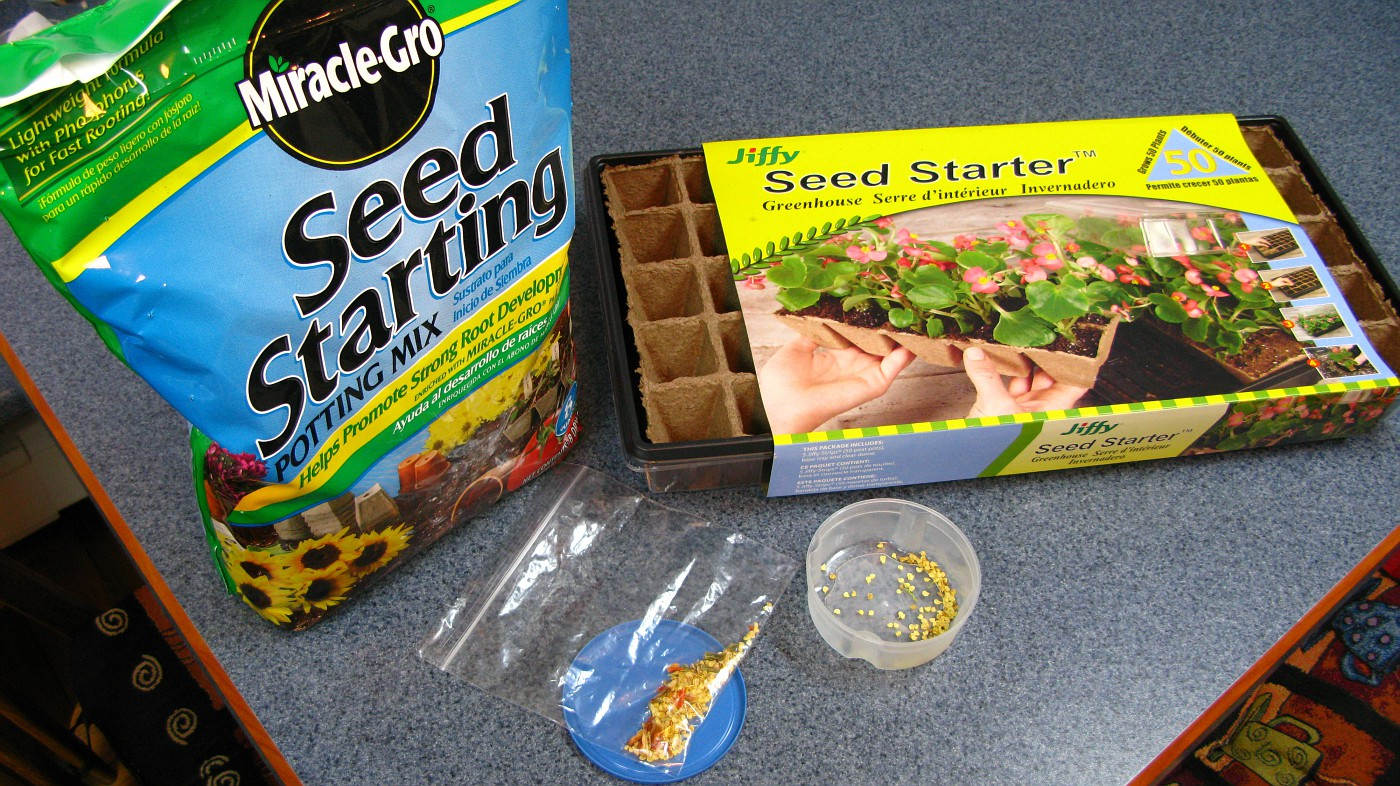 Under $10.00 for Seed Starting Potting Mix and a Plastic Planting Tray... and pepper seeds!!!