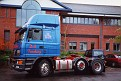 Outside Foden offices, Sandbach, one week old.