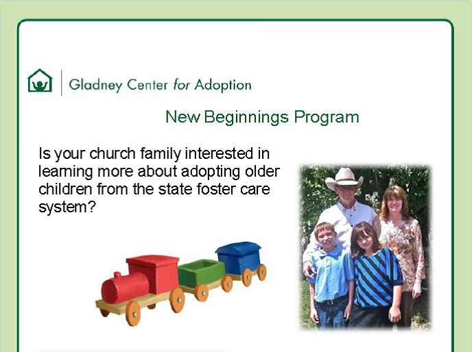 New Beginnings Adoption Flyer