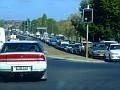 Traffic heading out of Bathurst