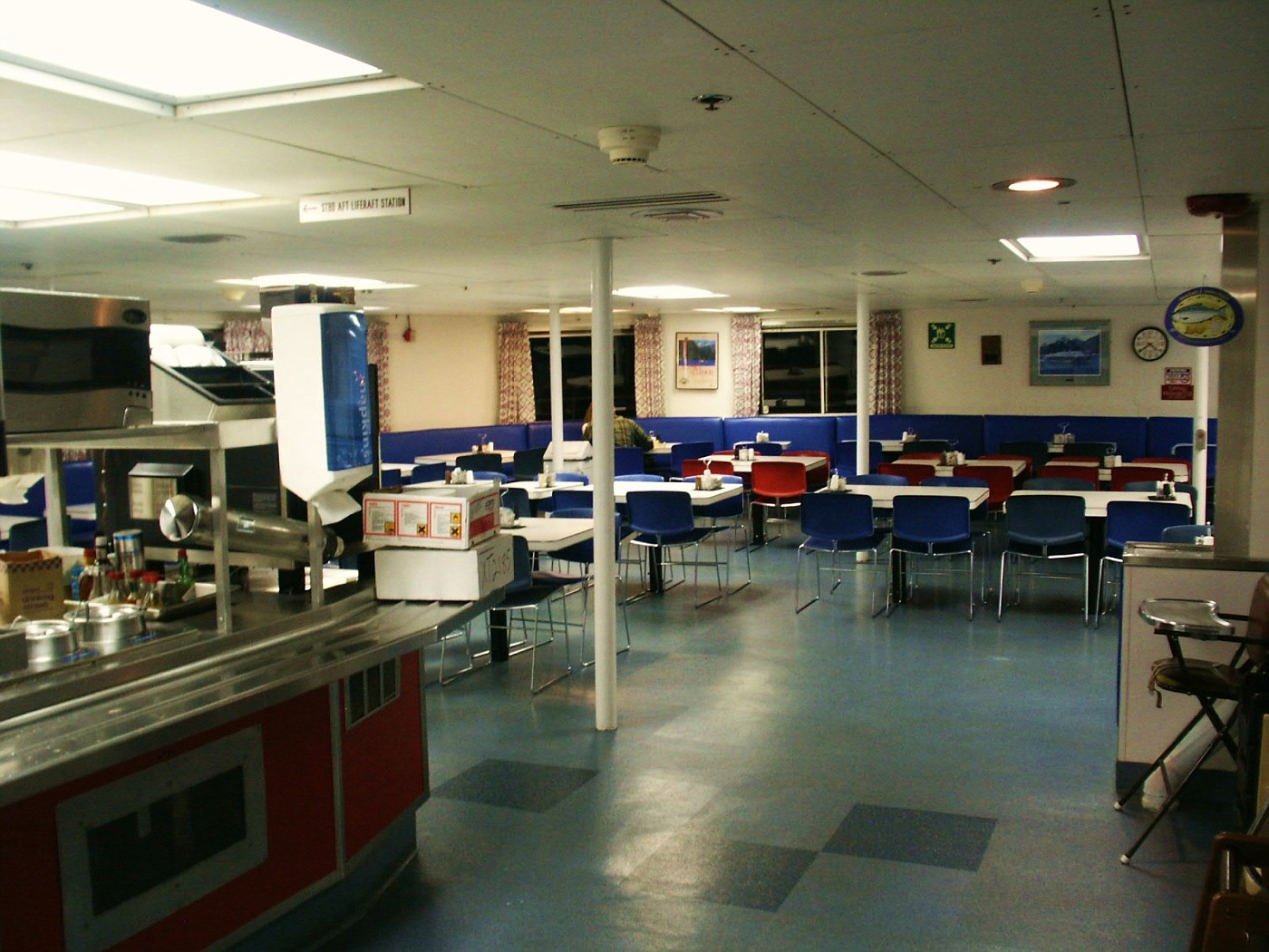 MV Taku Cafeteria Dining Room